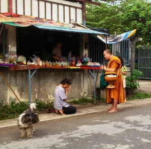 monk giving blessing