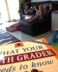 Some days homeschooling looks like this.