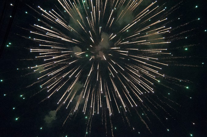 Some fireworks from Fourth of July in Chiang Mai. - Photo by Justine. She is really getting good! :)