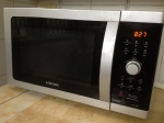 New-to-us Samsung combination microwave, toaster oven, and grill! Woo Hoo!