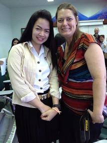 My new friend Lyn, a senior English major at Phetchabun Rajabhat University.