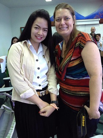My new friend Lyn, a senior English major at Phetchabun Rajabhat University.