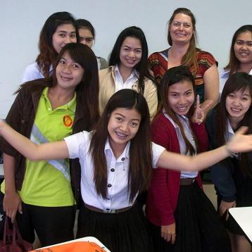 New friends from Phetchabun Rajabhat University.