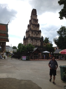 Again, I don't know the name of this temple, but this monument is called a chedi. One of the queen's ashes are buried inside.