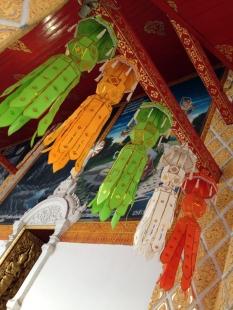 Temple decorations.