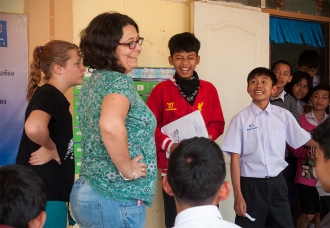 Jaynee and our friend Julia found a group of junior high boys who wanted to practice their English. They were so funny!