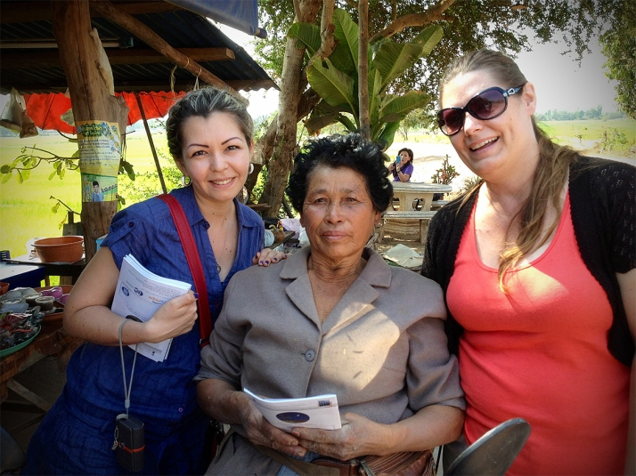 This lady came in from the rice fields just as we were distributing Gospel tracts and Bibles to a street vendor. She thanked us and thanked us. She had been wanting her own Bible in Thai for so long but could not find one. She cried as we prayed with her.