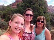 Sightseeing in Sedona with my sister.