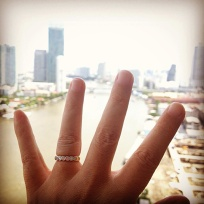 I got engaged! (See hubby photo for further details.)