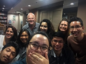 I've completed 18 hours toward my Media Communications graduate degree. I love my classmates from across the globe: Nepal, Vietnam, Singapore, Thailand, and Sweden/Canada
