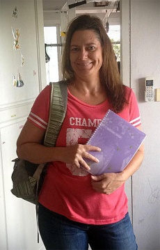My first day of graduate studies! College kid again!