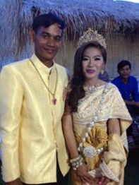 The newlyweds! Vuthy and Srey Nech (Courtney).